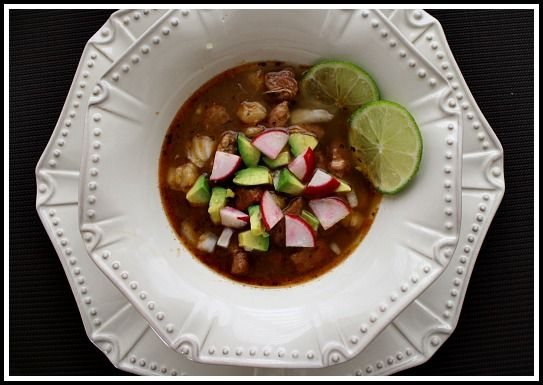 Colorado (Red) Posole. Brick red in color, savory with pork and shank ...