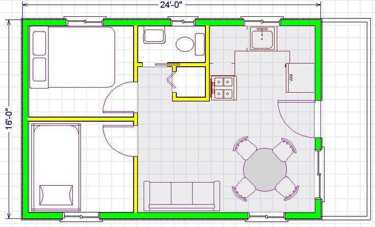 16x24 house plans google search small house plans