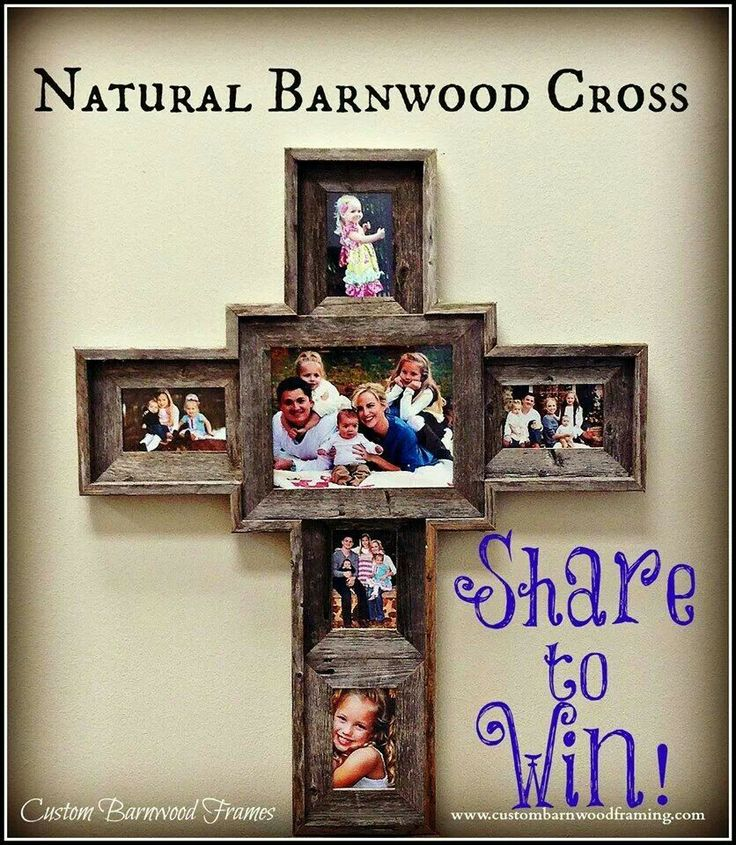 barn wood picture frame cross home diyentertaining pinterest