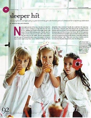 Article Fake Sleepover Party