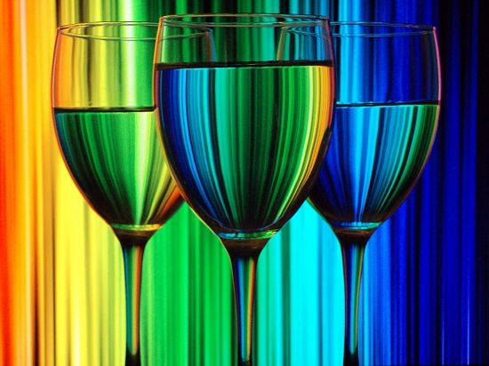 Wine glass in color by taleweaver