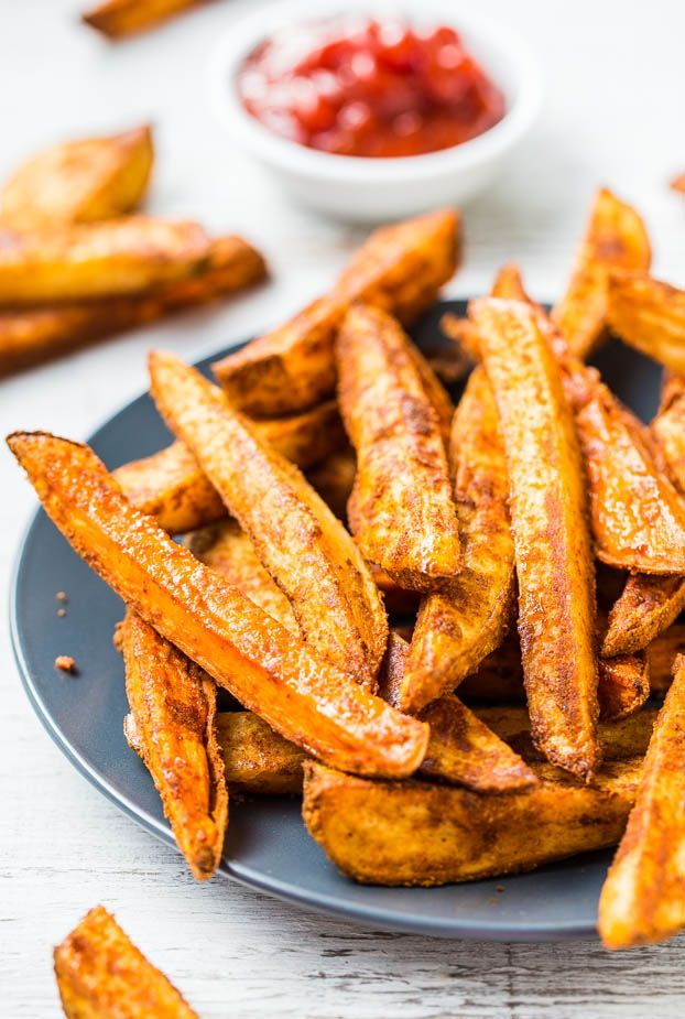 ... oven fries! They're baked rather than fried so you can have extra