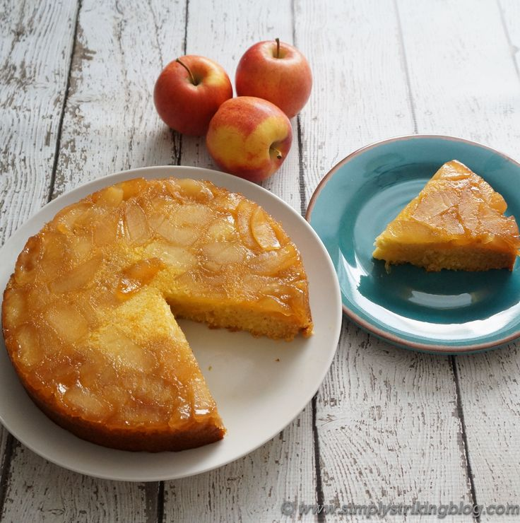 Apple Cornmeal Upside Down Cake | Sweet toof | Pinterest