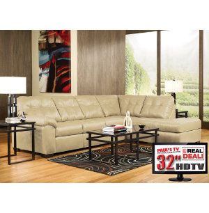 Piece Living Room Package with TV  Sectionals  Living Rooms  Art ...