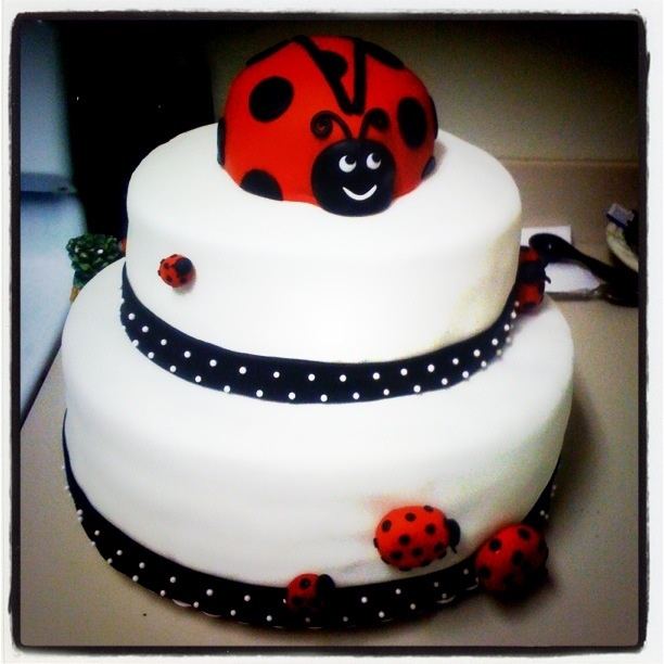 lady bug cake for a baby shower cakes pinterest