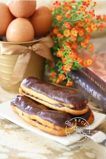 Chocolate eclairs by Pierre herme | Recipes | Pinterest