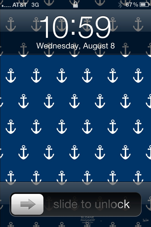 Free preppy anchor iPhone  174  and iPad  174  wallpaper downloads  http   www    Preppy Anchor Wallpaper