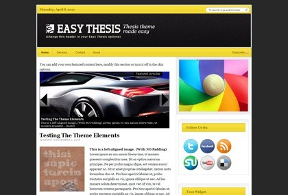 wordpress thesis theme font