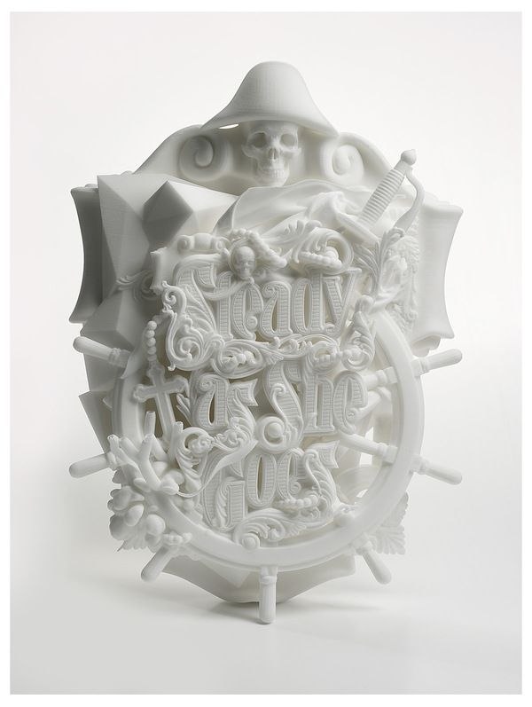 Steady As She Goes, A 3D Printed Typographic Sculpture