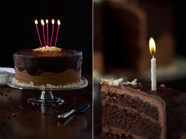Pictures Of Happy Birthday Chocolate Cake For Friend With Candles