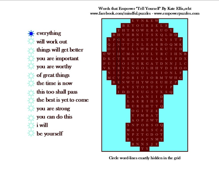 June 2013 puzzle | Mindful Word Search Puzzles | Pinterest