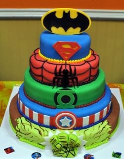 Superhero Cake! :)