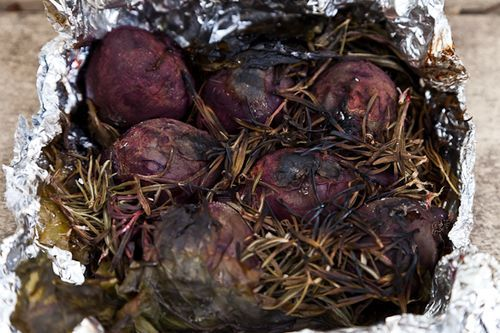 What tha...? Rosemary smoked beets! Jamie Oliver's Smoked Beets