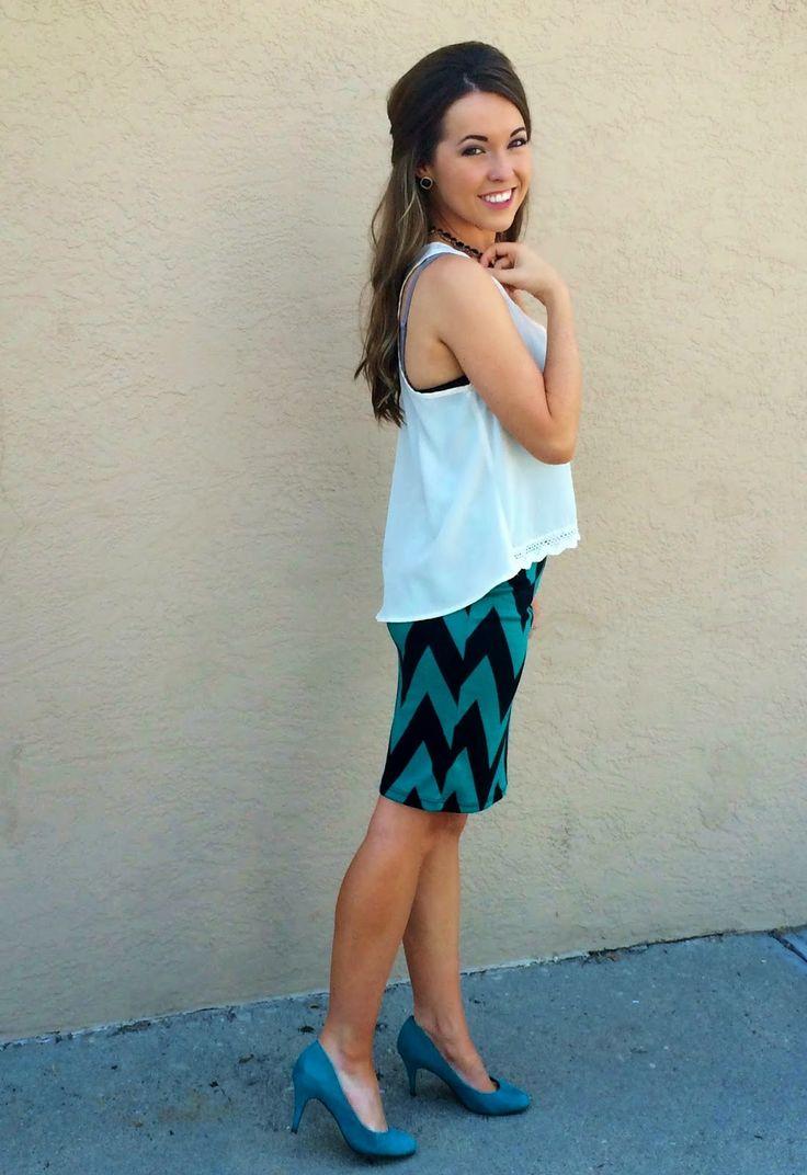 chevron pencil skirt summer fashion styling