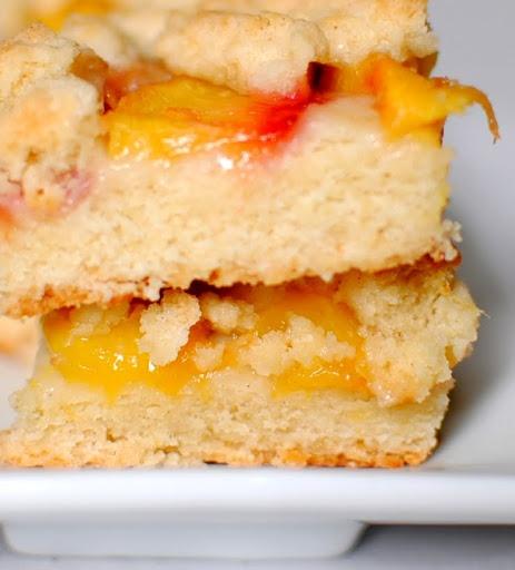 peach shortbread bars | Bars/Brownies | Pinterest