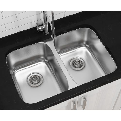 Kitchen Sink Costco : Ancona Double Bowl Under-mount Kitchen Sink - costco $273.99