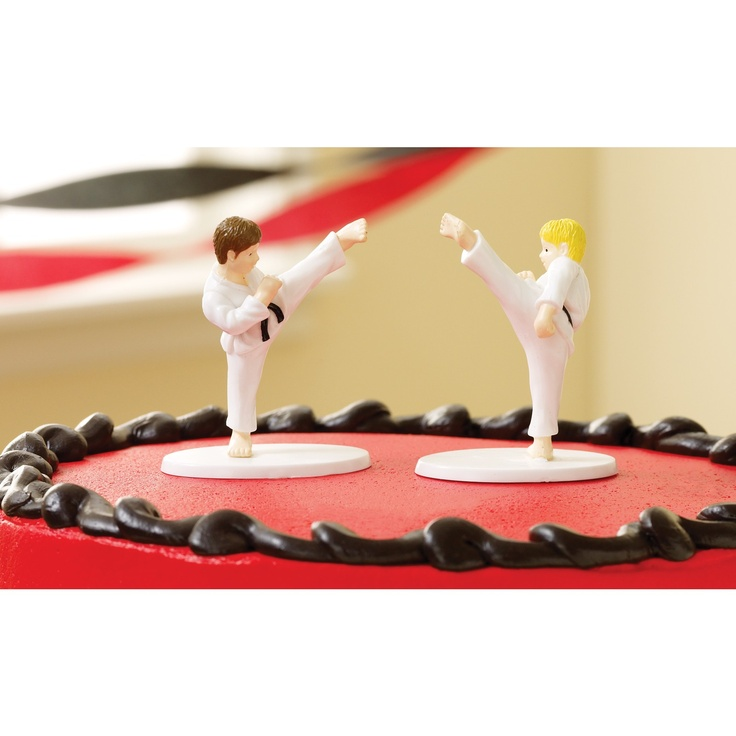 martial arts cake toppers  karate cakes  Pinterest