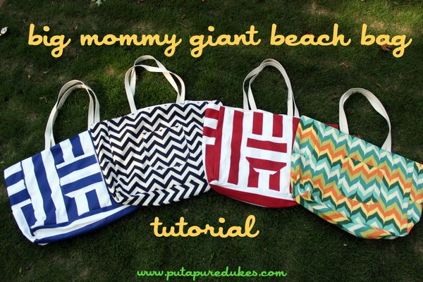 big mommy giant beach bag tutorial