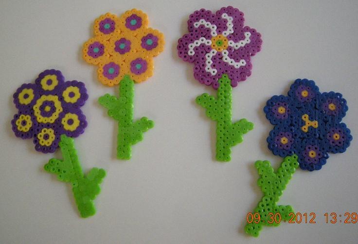 flowers perler bead 8 00 via etsy gyerekeknek