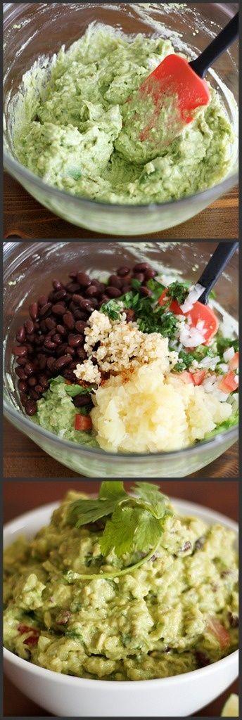 Black Bean-Pineapple Guacamole. | Good Eats | Pinterest