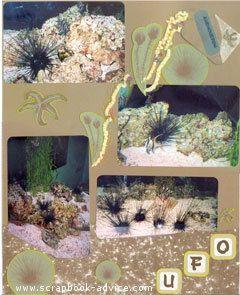 Aquarium Scrapbook Layout 7 Right