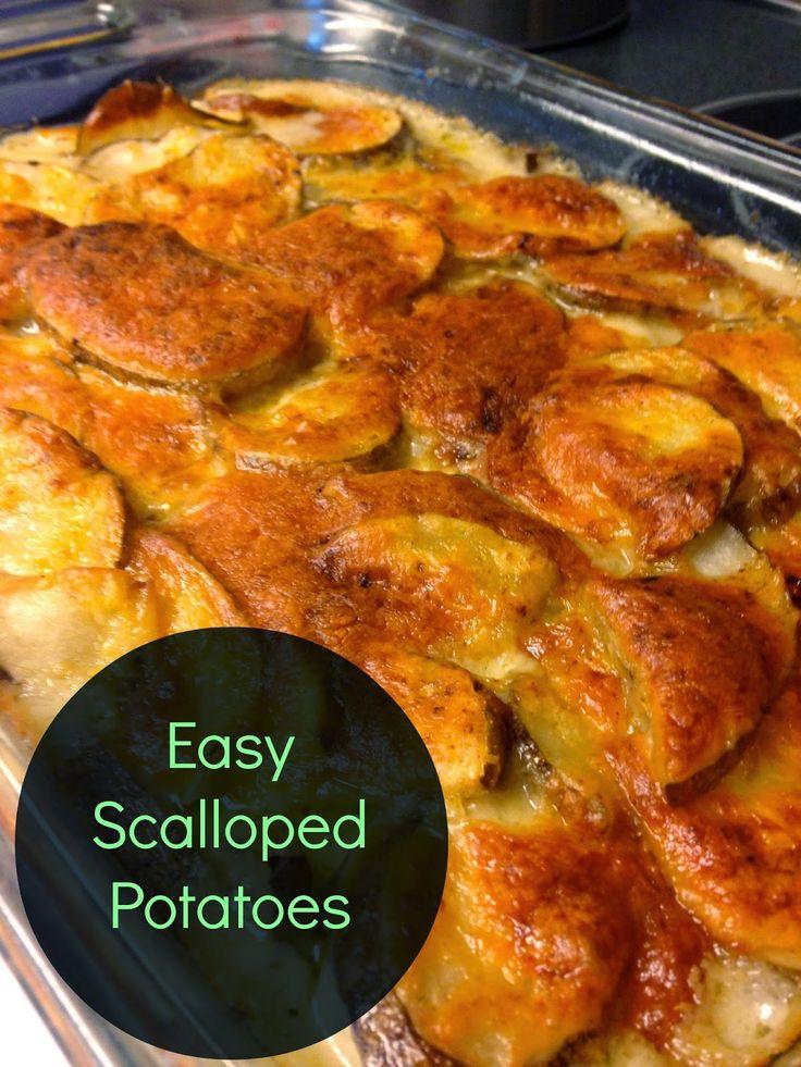 CommuniKait: easy scalloped potatoes   Favorite Recipes   Pinterest