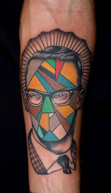 Geometric tattoo men original tattoos pinterest for Mens tattoos pinterest