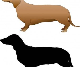 Dachshund, dog template vector | Vectors | Pinterest