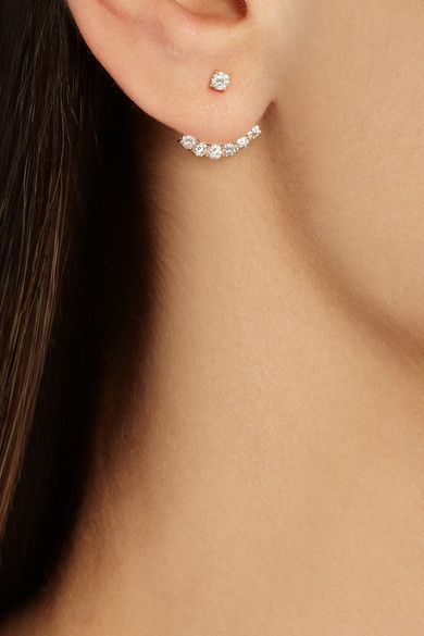 Im obsessed with these Anita Ko rose gold diamond earrings… #diamonds #diamondearrings #anitako