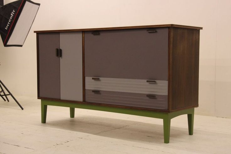 Mid Century cabinet☆Retro sideboard☆Upcycled modern TV unit ...