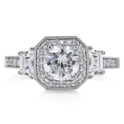 Silver Wedding Rings Sets