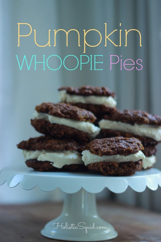 Pumpkin Whoopie Pies with Maple Cream Cheese Frosting Read more: http ...