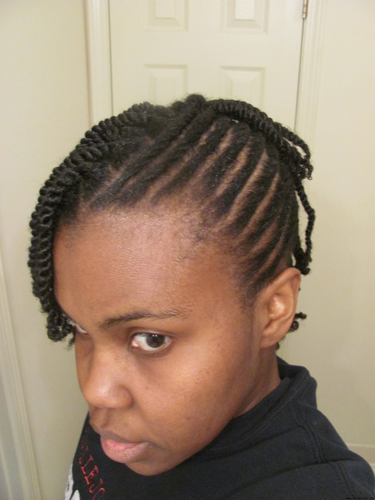 mohawk cornrows and two strand twists Natural Hair Styles Pintere ...