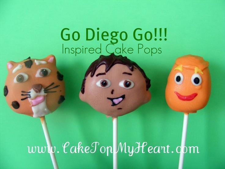 Dora & Diego Cake Pops