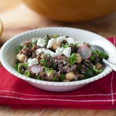 Quinoa With Chickpeas, Asparagus, And Fresh Peas (via www.foodily.com ...