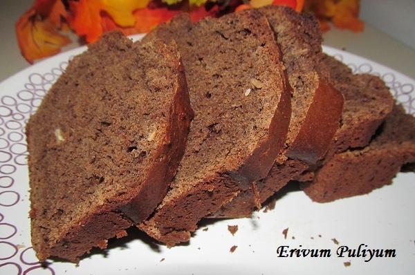 erivumpuliyumm.com: Eggless Chocolate Banana Bread (Wheat flour & amp)