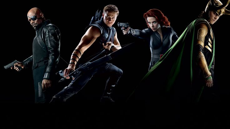 Hawkeye, Black Widow, Nick Fury & Loki