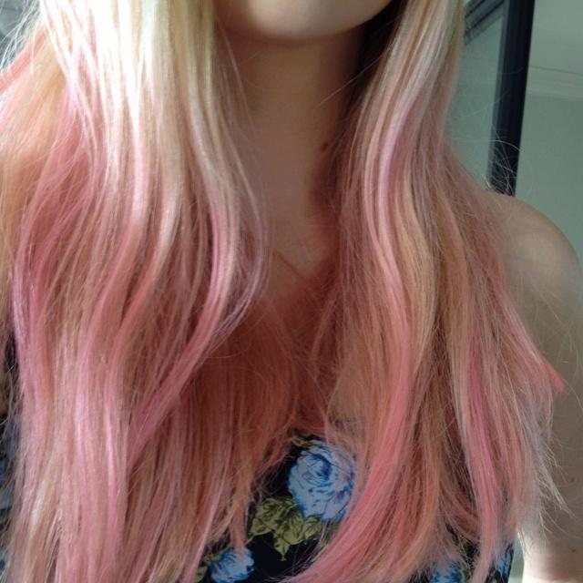 pastel pink ombr233 hair hair pinterest