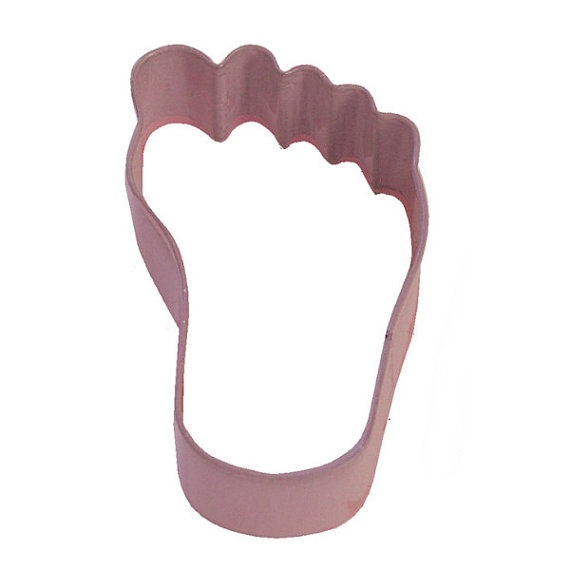 pink foot cookie cutter for beach or baby shower by kitchencrafts 2