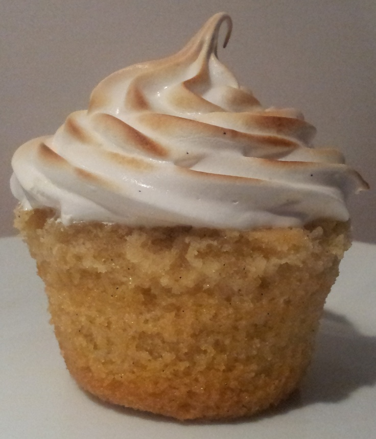Classic Vanilla Cupcake with Marshmallow Frosting - toasted for extra ...