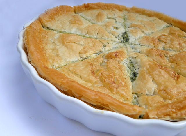 Spanakopita (Greek Spinach Pie) -- this is so wonderful -- for recipe ...