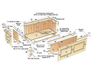 Cedar chest plans | Cedar Chest designs | Pinterest