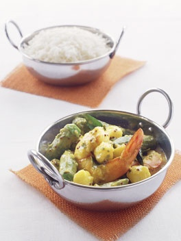 Indian-Style Prawn, Turmeric and Okra Curry