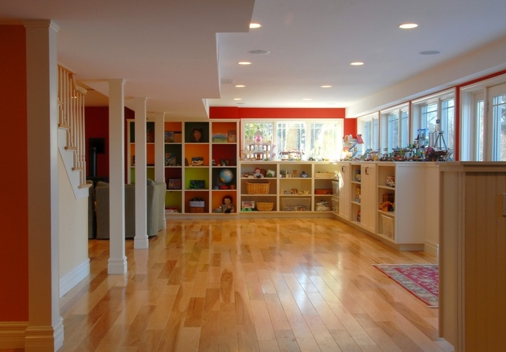 Basement playroom kid spaces pinterest - Cool basement ideas for kids ...