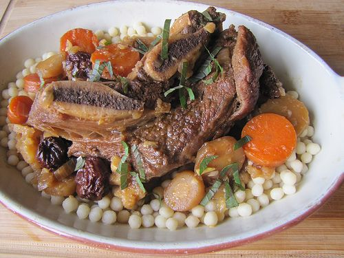 Coffee Beer-Braised Short Ribs with Couscous