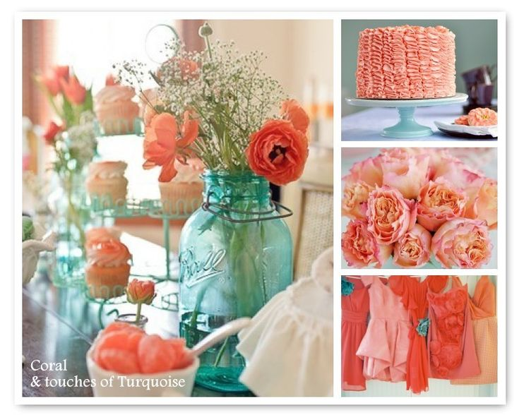 Turquoise And Coral Wedding