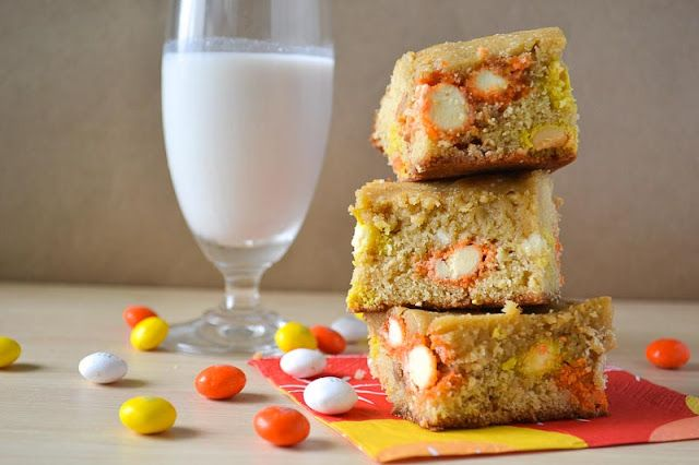 Candy Corn M Blondies   Recipes   Pinterest