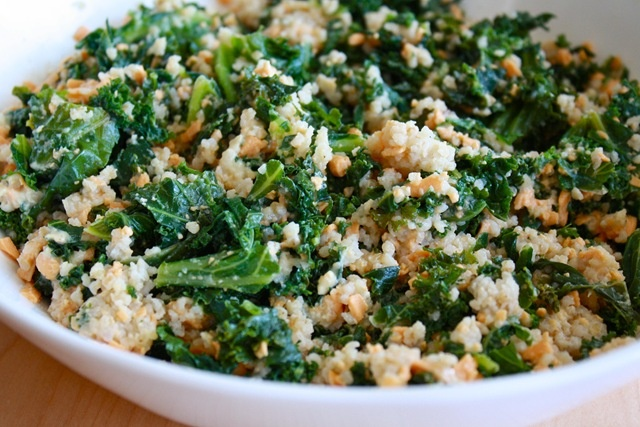 Vegan Cheesy Kale and Couscous