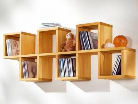 Sencillo librero de madera libreros y estantes pinterest - Libreros de madera modernos ...