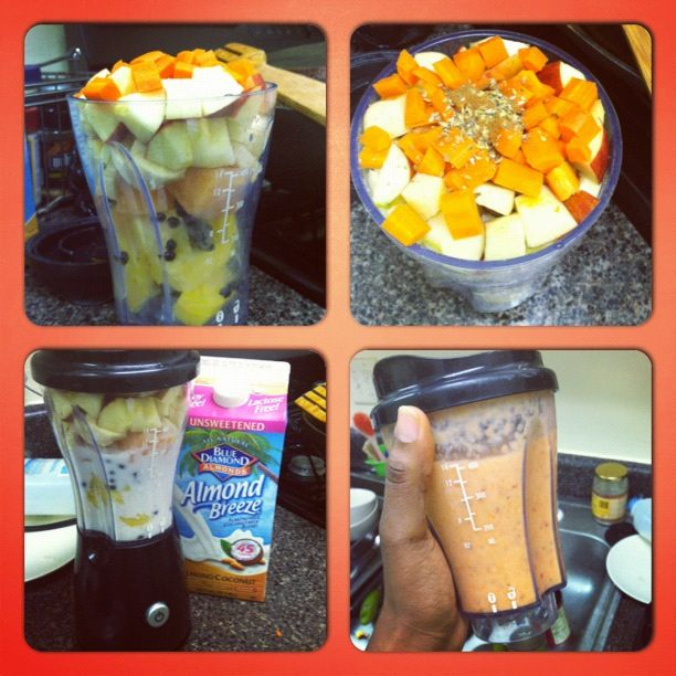 Cure All Smoothie: pineapple, papaya (w seeds), mango, carrots, apples ...